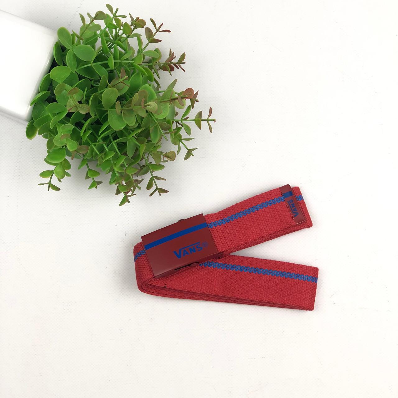 Ремень Пояс Vans полоска  - Красный 105 см