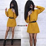 Вязаное свободное платье туника с высоким воротником и длинным рукавом 903679, фото 4