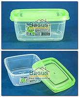 """Емкость (судок) пищевая 0,5л 12,4х12,4х5,3см пластиковая с крышкой """"Econom Box Квадратный №1"""" Ал-Пластик, фото 1"""