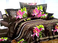 3D Полуторное постельное белье Ranforce цветок