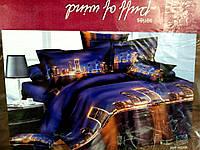 3D Полуторное постельное белье Ranforce ночной мегаполис