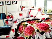 3D Двуспальное постельное белье Ranforce роза