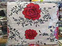 Двуспальное постельное белье жатка Tirotex красный цветок