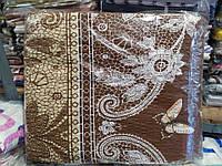 Двуспальное постельное белье жатка Tirotex бабочки
