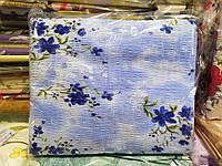 Постельное белье жатка Евро размер Tirotex голубое