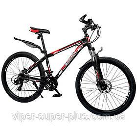 """Велосипед SPARK VSP LACE LD24-15-21-004 Чёрно-Красный (Алюминиевая рама 15"""") на 24 дюймов"""