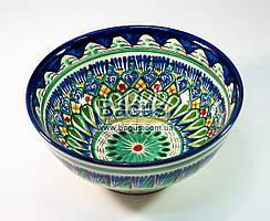 Салатник узбекский (глубокая тарелка, суповая миска узбекская) диаметр 18см высота 8см ручная работа 1808-01