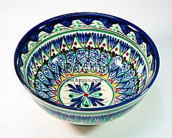 Салатник узбекский (глубокая тарелка, суповая миска узбекская) диаметр 18см высота 8см ручная работа 1808-02