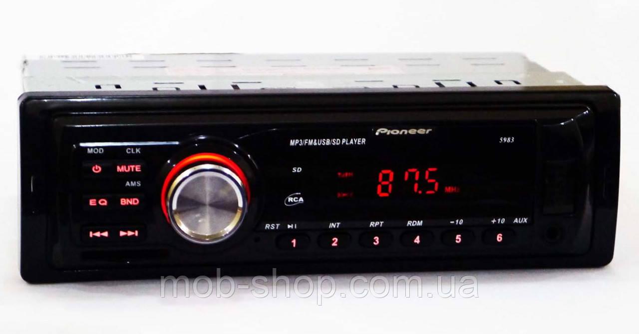 1 din Автомагнитола пионер Pioneer 5983 MP3 USB Sd AUX (качественная 1 дин магнитола в авто)