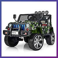 Детский электромобиль Jeep c пультом Bambi M 3237 EBLR-18 камуфляж | Дитячий електромобіль Бембі камуфляж