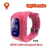 Детские умные часы телефон KGG Q50 OLED розовый с GPS детские смарт часы совместимы с IOS и Android