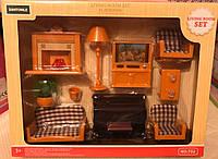 Мебель для гостиной флоксовых животных Happy Family T02, телевизор, диван, камин, пианино, аналог Sylvanian Fa