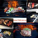 40х33см Тефлоновий антипригарний килимок для випічки , барбекю і гриля 09185893, фото 5