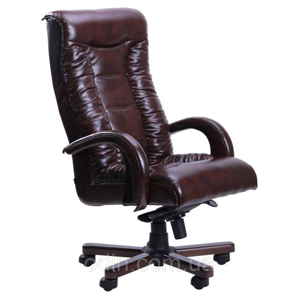 Кресло Кинг Люкс MB венге Кожа Люкс комбинированная черная 036718