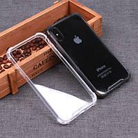 Противоударный силиконовый TPU чехол с бортами для/на iPhone 11Pro Max 11 11Pro XR 10 XS X8 Plus7 6 Прозрачный
