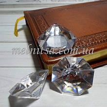"""Декоративный кристалл-подвеска """"Кристалл  большой плоский """" с гранями,  3,5 х 2 см, 1 шт."""
