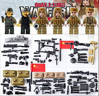 Военные фигурки,Пак фигурок СССР/USA военный конструктор, аналог лего, BrickArms