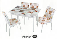 Комплект стіл розкладний + 4 стільці № 988 купити в Одесі, Україні