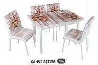 Комплект стіл розкладний + 4 стільці № 989 купити в Одесі, Україні