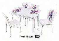 Комплект стіл розкладний + 4 стільці № 998 купити в Одесі, Україні