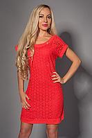 Платье мод 477-2 размер 42-44, 48-50 коралл (А.Н.Г.)