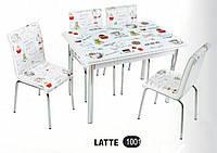 Комплект стіл розкладний + 4 стільці № 1001 купити в Одесі, Україні