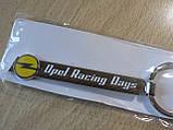 Брелок металевий смуга Opel Racing Days 113мм 20г з написом та емблемою Опель на авто ключі, фото 3