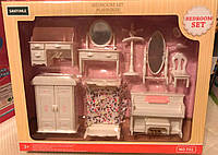 Мебель для спальни флоксовых животных Happy Family T01, кровать, пианино, трюмо, вешалка, аналог Sylvanian Fam
