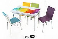 Комплект стіл розкладний + 4 стільці № 1006 купити в Одесі, Україні