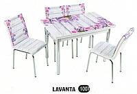 Комплект стіл розкладний + 4 стільці № 1007 купити в Одесі, Україні