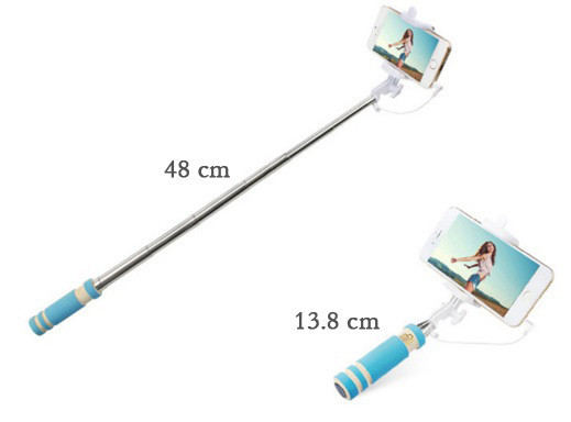 Монопод мини (селфи палка), компактные размеры синий