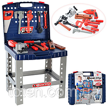 Игровой набор Столик - чемодан  с инструментами  (008-21)  Электрическая дрель, шуруповерт