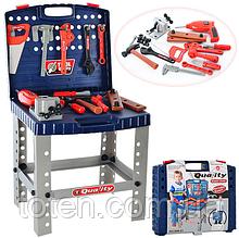 Набір інструментів столик для дітей. Електрична дриль, шуруповерт 008-21