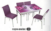 Комплект стіл розкладний + 4 стільці № 1011 купити в Одесі, Україні
