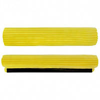 Запаска для швабры с отжимом Stenson размер 30х6см, желтая, ПВХ, швабра для уборки, Швабра, Уборочны инвентарь