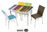 Комплект стіл розкладний + 4 стільці № 1012 купити в Одесі, Україні