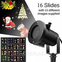 Новогодний уличный проектор Star Shower Slide Show 16 слайдов