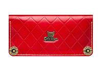 Кошелек кожаный, бумажник Gato Negro Alfa-X Red ручной работ