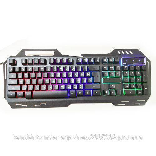 Клавиатура  с подсветкой USB  GK-900, светодиодная клавиатура, led клавиатура