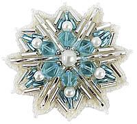 """Набор для изготовления броши Crystal Art """"Снежинка"""" БП-252"""