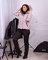 Лыжный костюм женский Куртка и полукомбинезон Плащевка на синтепоне Куртка на овчине  Размер 48 50 52 54, фото 1