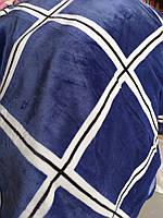 Покривало Євро розміру сині квадрати