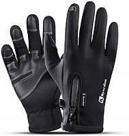 Зимние перчатки Kyncilor для сенсорных экранов влагозащитные черные A0020