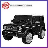 Детский электромобиль Mercedes c пультом Bambi M 3567 EBLR-2 (4WD) черный | Дитячий електромобіль Бембі чорний