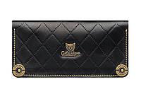 Кошелек кожаный, бумажник Gato Negro Alfa-X Black ручной работ