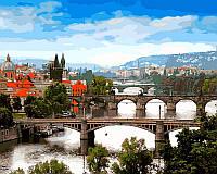 Раскраска по цифрам Мосты Праги (VP482) 40 х 50 см