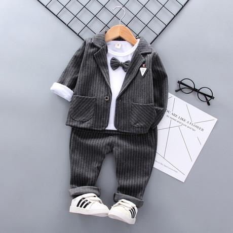 Ошатний костюм трійка на хлопчика джентельмен сірий 1-4 роки