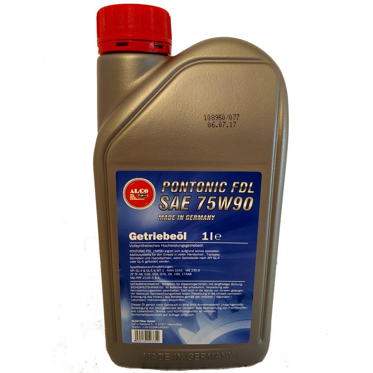 Трансмиссионное масло ALCO Filter RASANTA PONTONIC FDL 75W-90 1л