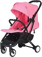 Прогулочная коляска Yoya Plus Розовая с черной рамой 670064992, КОД: 125459