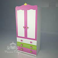 """Шкаф двухстворчатый с ящиками """"Принцесса"""", фото 1"""